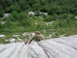 Limestone Mont Blanc climbing