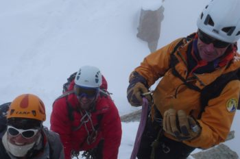 Group on the Cosmiques Arete, Chamonix